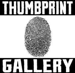 Graphic logo for Thumbprint Gallery.