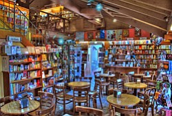 Interior photo of Upstart Crow Bookstore & Coffeehouse, located at 835 W Harbor Drive, San Diego, CA 92101 in Seaport Village.