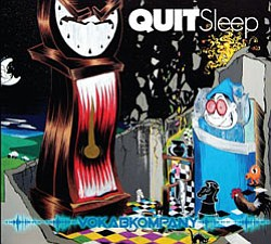 "Graphical album cover of the Vokab Company's album ""Quit ..."