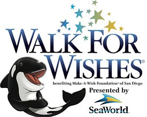 Graphic image for the 2011 Walk for Wishes fundraising walk at Sea World San Diego.