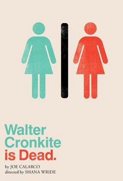 "Promotional theater poster of ""Walter Cronkite is Dead."""