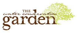 Graphic logo for the Water Conservation Garden at Cuyamaca College in El Cajon.