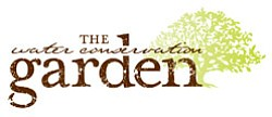 Graphic logo for the Water Conservation Garden at Cuyamac...