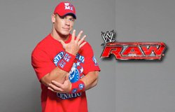 Promotional graphic for WWE RAW with an image of John Cena