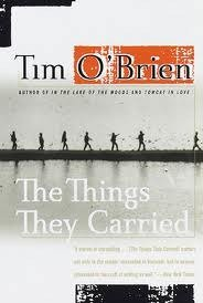 """Book cover for """"The Things They Carried"""" by Tim O'Brien."""