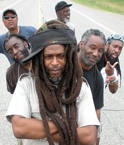 Image of the band, Steel Pulse, who is performing at the Del Mar Racetrack on August 3rd.