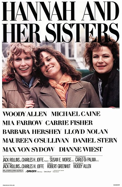 "Promotional graphic for the film, ""Hannah and Her Sisters"""