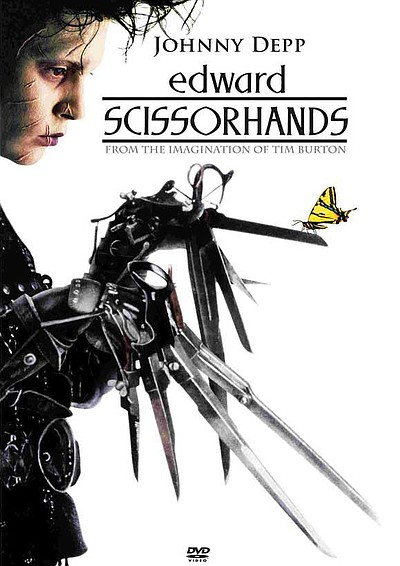 "Promotional graphic for the film, ""Edward Scissorhands"""