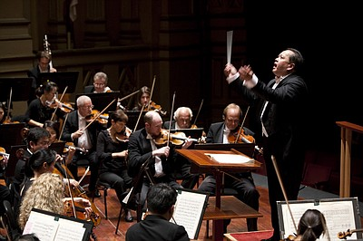 Image of Jahja Ling conducting a previous performance. Courtesy of the San Diego Symphony.