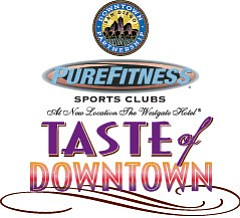 "Promotional graphic for the San Diego's 12th Annual ""Taste of Downtown"" on October 11th, 2012. Courtesy of McFarlane Promotions."