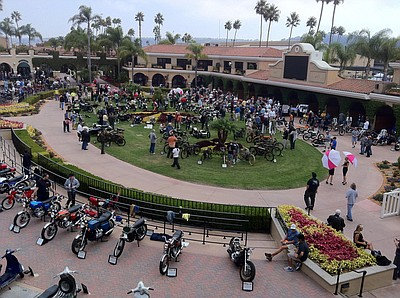 Promotional photo from the 2011 Celebration Of The Motorcycle. Courtesy of Del Mar Concours d'Elegance, producers of this event.