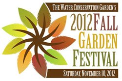 Graphical logo for the Water Conservation Garden's Fall Festival.