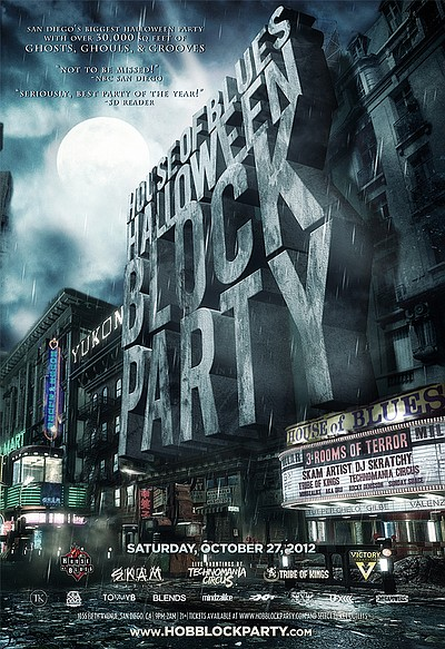 Promotional graphic for the House Of Blues Halloween Block Party, Saturday, October 27, 2012 from 9 p.m. to 2 a.m. Courtesy of The House of Blues