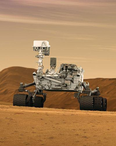 Image of a Robot located on Mars. Courtesy of the Reuben H. Fleet Science Center.