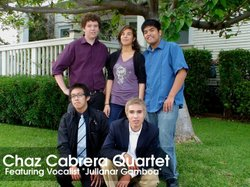 Graphic image of the Chaz Cabrera Quartet, who will be performing at the Upstart Crow on December 7th, 2012. Courtesy to Chaz Cabrera Quartet.