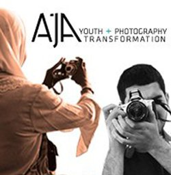 Promotional graphic for AjA Project, who will be hosting an Open House event at the City Heights Student Gallery on Oct. 13th, 2012.