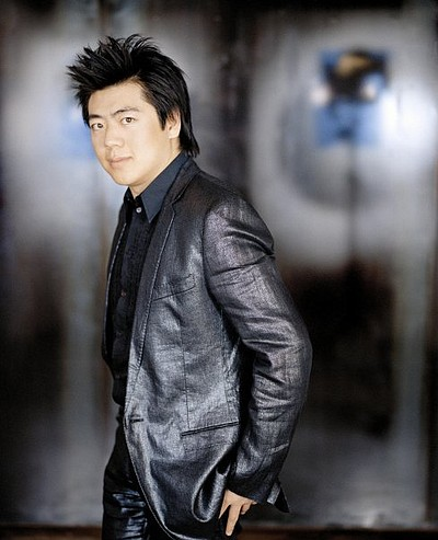 Promotional image of Lang Lang, who will be performing at the Copley Symphony Hall.