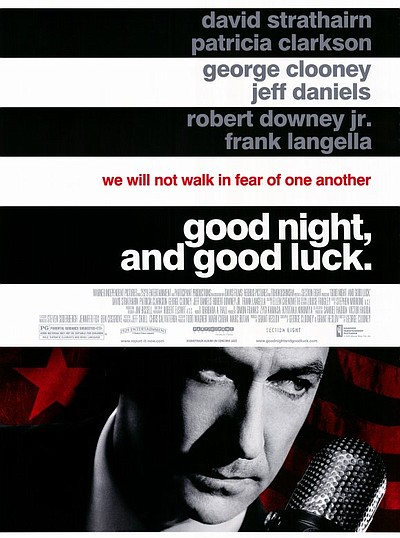 "Promotional graphic for the film, ""Good Night, and Good Luck. (2005)"" that will be screening at the San Diego Central Library on September 7th."