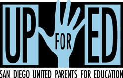 Graphic logo for UPforEd, who will be holding a Parents' Rights Workshop on November 15th, 2012. Courtesy of UPforEd.