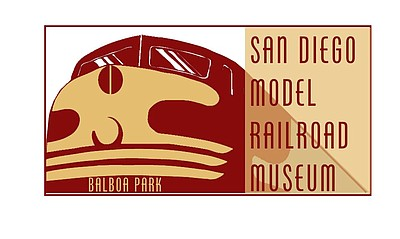 Graphic logo for the San Diego Model Railroad Museum. Courtesy of San Diego Model Railroad Museum.