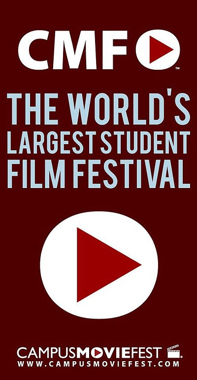 Promotional logo for Campus MovieFest. Courtesy of Campus...