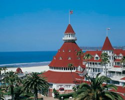 Exterior image of the Hotel Del Coronado. Courtesy of the Hotel Del Coronado.