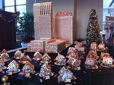 Image of a Gingerbread Village from a previous year at the Manchester Grand Hyatt. Courtesy of Manchester Grand Hyatt.