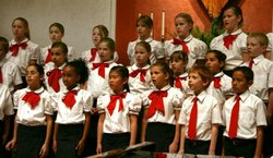 Image of the San Diego Children's Choir from a previous performance. Courtesy of the San Diego Children's Choir.