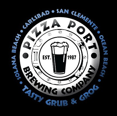 Logo for OB Pizza Port, Brewing Company.