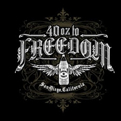 Graphical logo of 40 oz to Freedom
