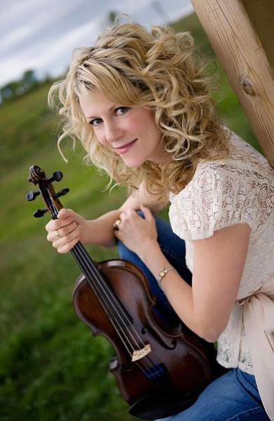 Photograph of Natalie MacMaster, who will be performing at the Poway Center for the Performing Arts on October 27th, 2012.