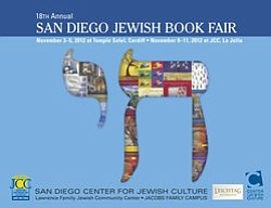 Promotional graphic for the 18th Annual San Diego Jewish Book Fair.