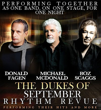 Promotional graphic for the The Dukes Of September Rhythm...