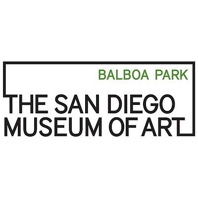 Graphic logo of the San Diego Museum of Art located in Ba...