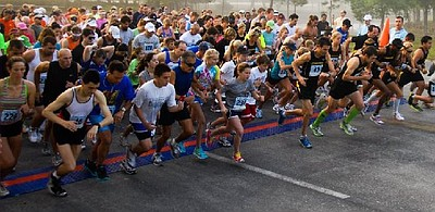 Image of Get Your Rear In Gear Colon Cancer 5K from a previous year. Courtesy of Get Your Rear in Gear.