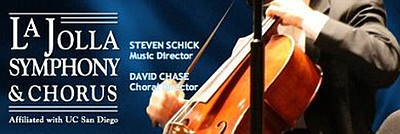 Promotional graphic for the La Jolla Symphony & Chorus.