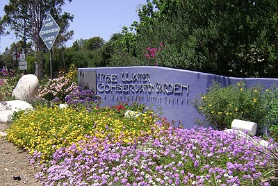 Image of the entrance to the Water Conservation Garden. Courtesy of the Water Conservation Garden.