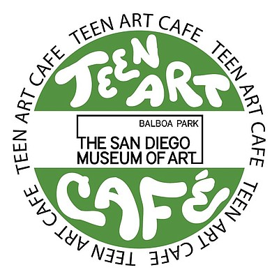 Promotional graphic for the Teen Art Café at the San Diego Museum of Art.