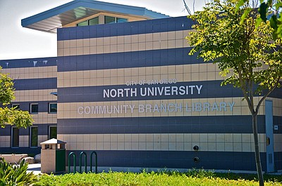 Exterior image of the North University Community Branch Library.