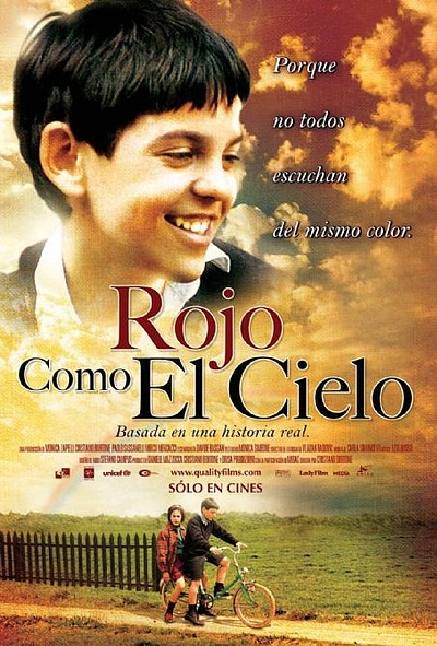"Movie poster for the film, ""Rosso come il cielo"""