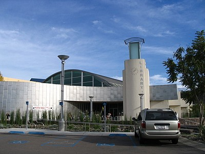 Exterior image of the Mission Valley Branch Library, who ...