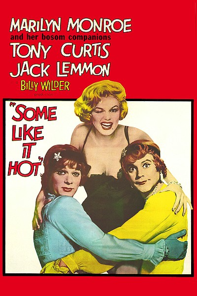 "Promotional graphic for the film, ""Some Like It Hot"" which will be screening at the Central Public Library on September 5th, 2012."