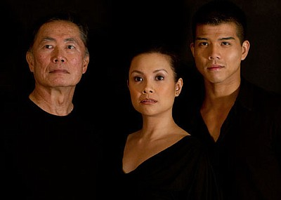 "(from left) George Takei will star as Sam Kimura and Ojii-san, Lea Salonga as Kei Kimura and Telly Leung as Sammy Kimura in the World Premiere of ""Allegiance - A New American Musical,"" with music and lyrics by Jay Kuo and book by Marc Acito, Kuo and Lorenzo Thione, directed by Stafford Arima, Sept. 7 - Oct. 28, 2012 at The Old Globe. Photo by Vincent Desro."