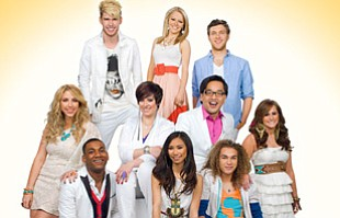 Image of the top ten contestants from the latest season o...