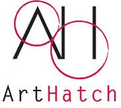 Promotional logo for ArtHatch.