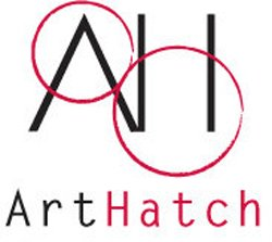 Graphical logo of ArtHatch.