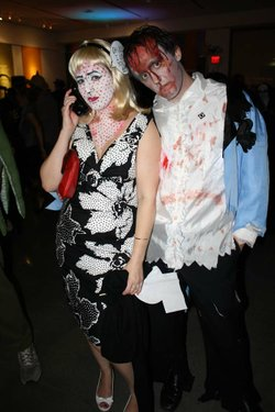 Image of guests in costume at the 2011 Art After Dark Halloween Party. Courtesy of Oceanside Museum of Art