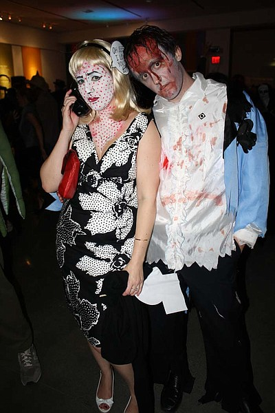 Image of guests in costume at the 2011 Art After Dark Hal...
