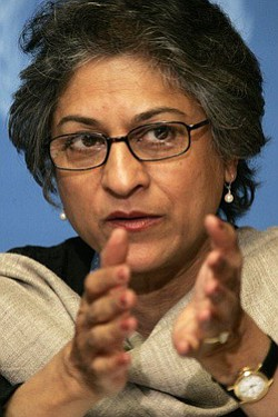 Image of Pakistani human rights lawyer, Asma Jahangir.