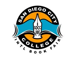 Graphic logo for the 7th Annual San Diego City College International Book Fair, October 1 - October 6, 2012.